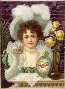Coca Cola Ad 5 cents - 1900 wikimedia