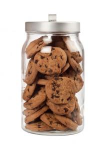 Jar of chocolate chip cookies
